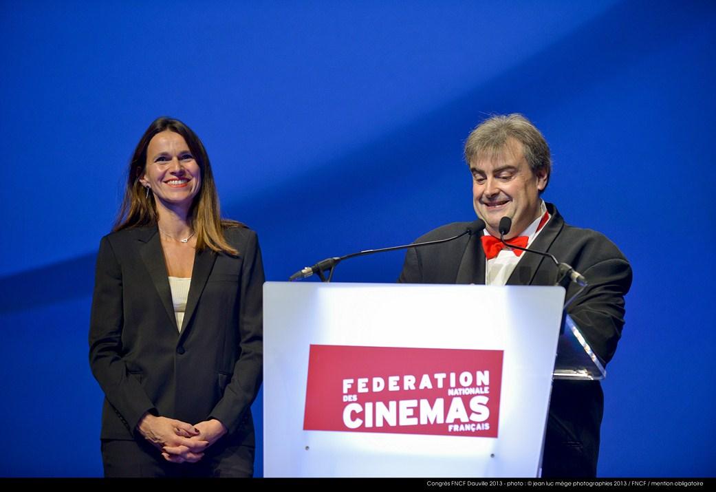 <strong>Aurélie Filippetti, Ministre de la Culture et de la Communication, et Richard Patry, Président de la FNCF</strong>