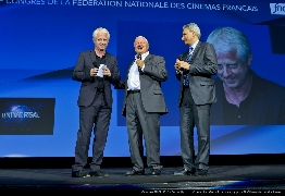 <strong>Richard Curtis, Axel Brucker et Victor Hadida</strong>